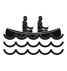 Canoeing icon simple style vector
