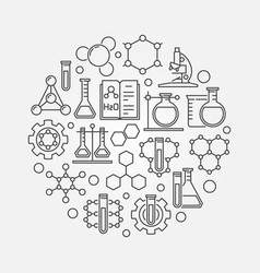 chemistry lab round vector image