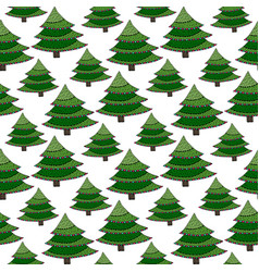 Christmas seamless pattern green wrapping texture vector