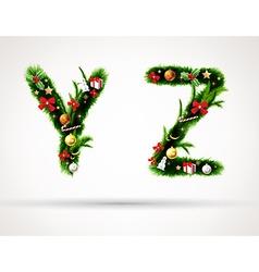 Christmas tree font vector