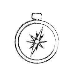 compass navigation position vector image