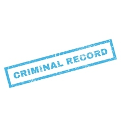 Criminal record rubber stamp vector
