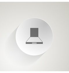Flat icon for cooker hood vector