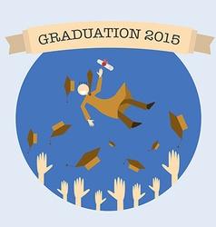 Graduation celebrating vector