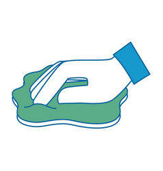 Hand wiping with cloth vector