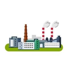 Industrial factory buildings icon Factory vector image