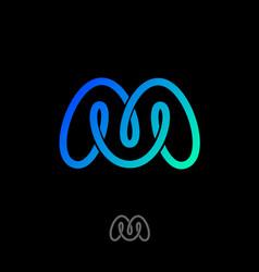 M monogram mobius logo vector