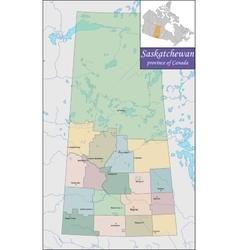 Map of Saskatchewan vector image vector image
