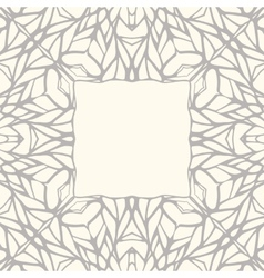 Mosaic square ornamental frame abstract background vector