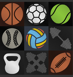 Set sport background vector