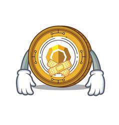 Silent komodo coin mascot cartoon vector