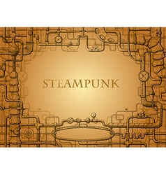 steampunk frame vector image vector image