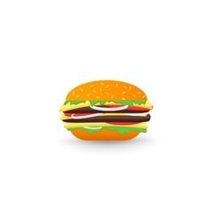 Tasty Hamburger vector image vector image