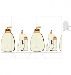 template for bag vector image