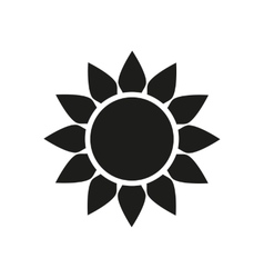 The sun icon Sunrise and sunshine weather symbol vector image vector image