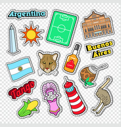 travel to argentina doodle argentinian stickers vector image vector image