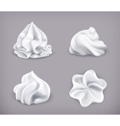 Whipped cream icon set vector image vector image