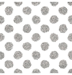Seamless pattern of silver glitter polka dots vector image