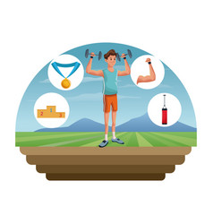 people fitness sport healthcare image vector image