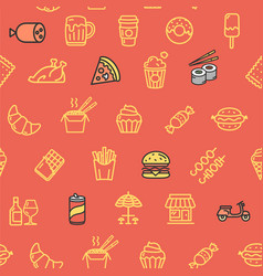 Fastfood and street food pattern background vector