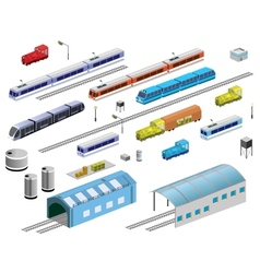Railroad equipment vector