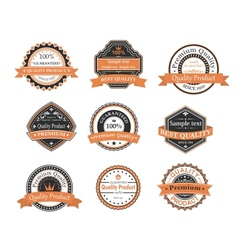 Quality ang warranty labels vector image