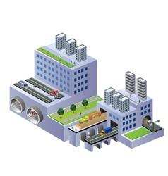 Isometric buildings vector