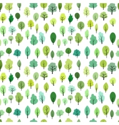 Seamless pattern with different trees vector
