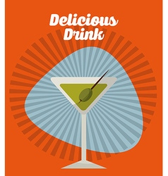 Drink retro label vector