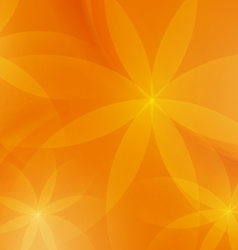 Abstract floral orange background for design vector