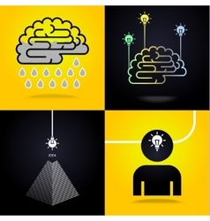 Set of ideas vector