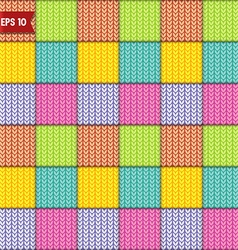 Simple knitted seamless pattern vector