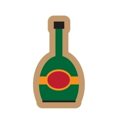 Flat icon on white background bottle champagne vector