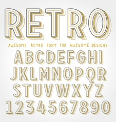 Retro font with shadow vector