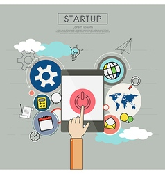 Business plan for start up vector