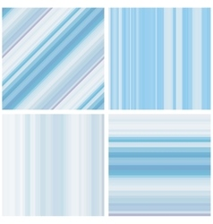 Abstract Striped Seamless Pattern Set vector image