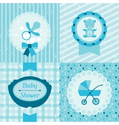Boy baby shower invitation cards vector image