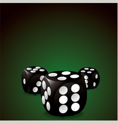 casino dice vector image
