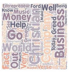 Christian entrepreneur text background wordcloud vector