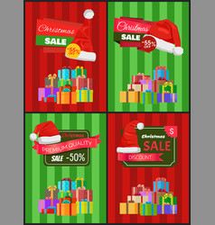 Christmas price reduction advertisement banners vector