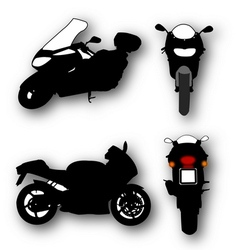 Collection of motorcycle silhouettes vector