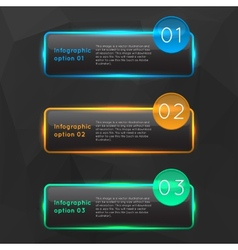 colorful glowing glass infographics vector image