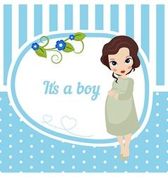 Cute baby girl card vector image vector image