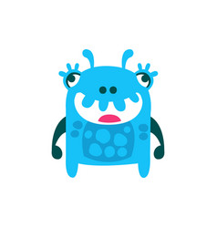 cute cartoon monster fabulous incredible creature vector image vector image
