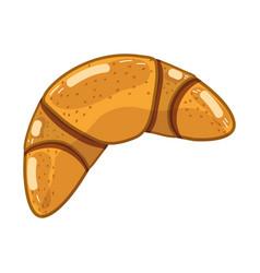 Delicious bakery croissant bread vector