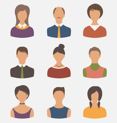 different male and female user avatars - vector image
