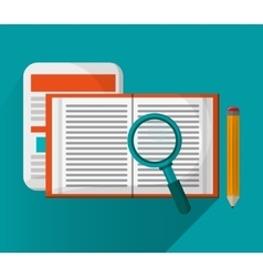Document with lupe and seo design vector