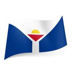 Flag of saint martin vector