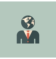 Global business flat icon vector