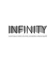 infinity logotype isolated on white background vector image